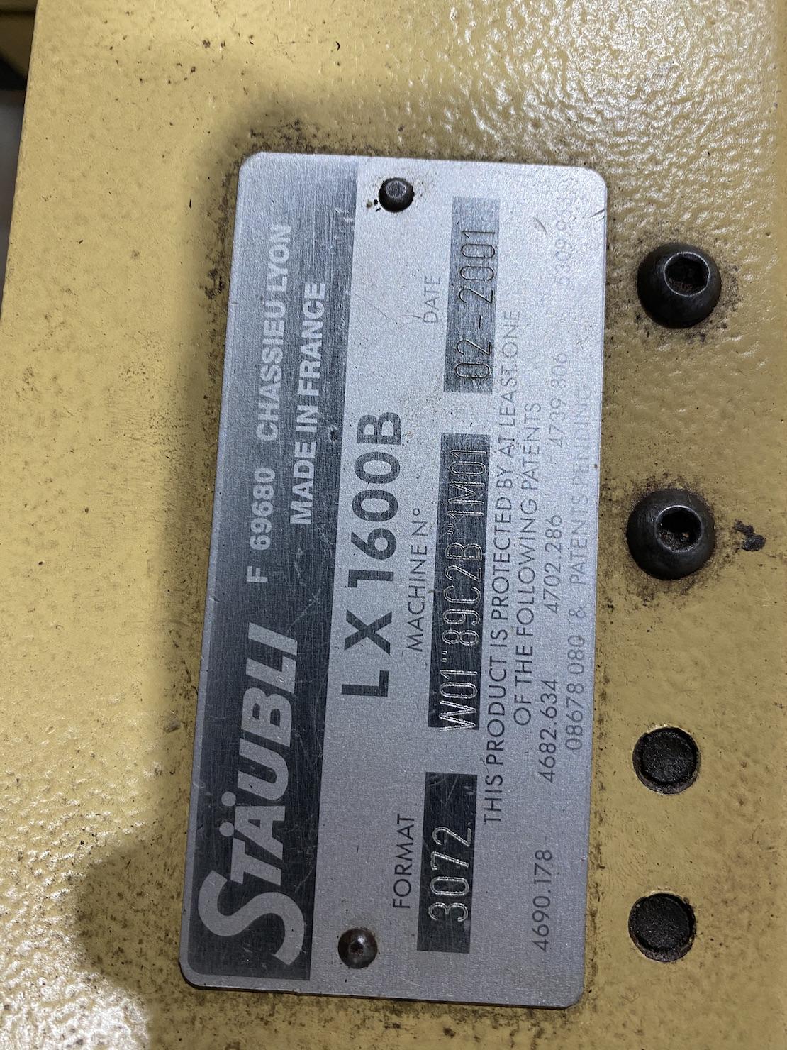 Staubli LX1600b 3072 Jacquard Head