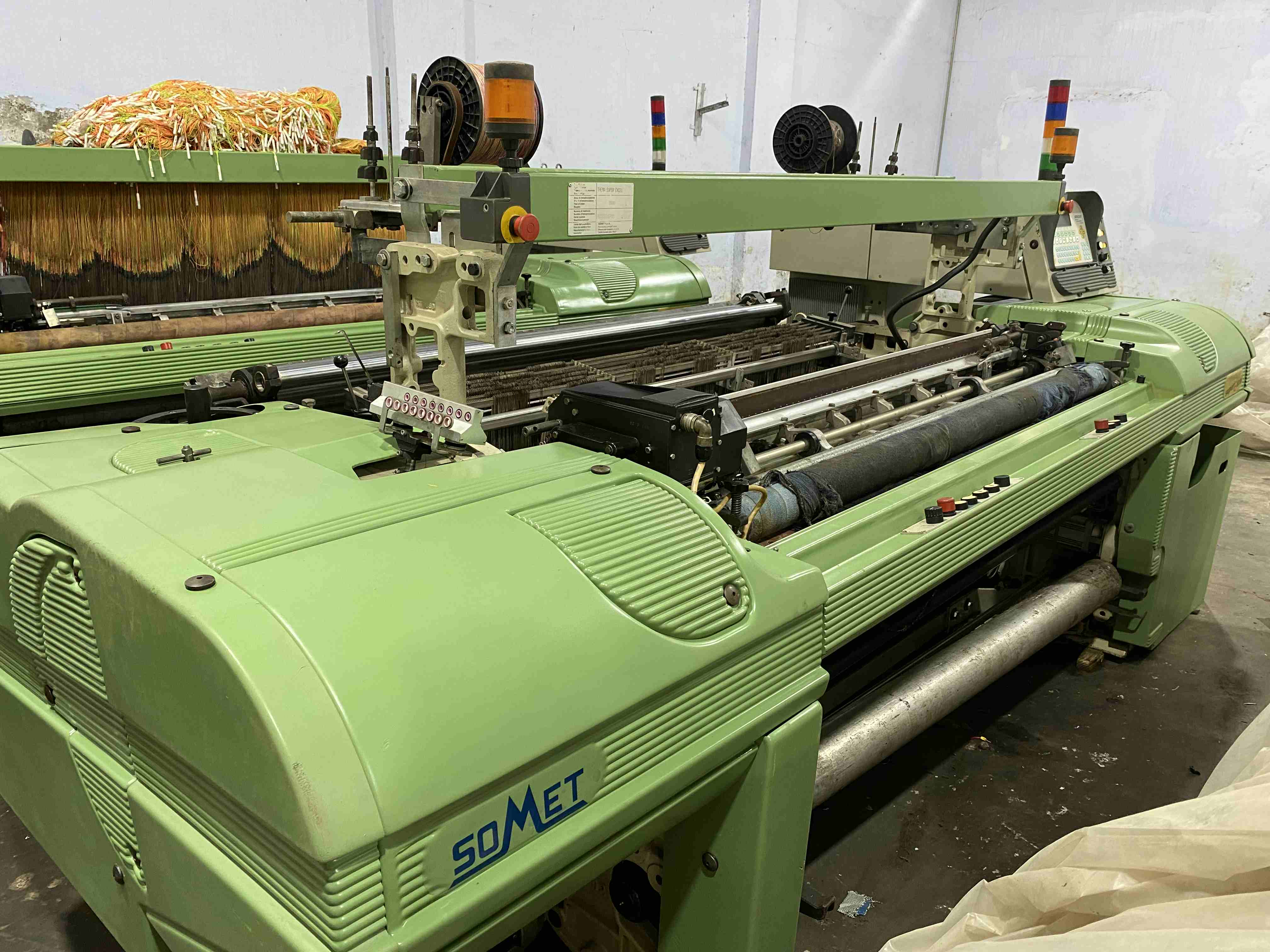 2 Somet Super Excel 165 cm as ready for jacquard